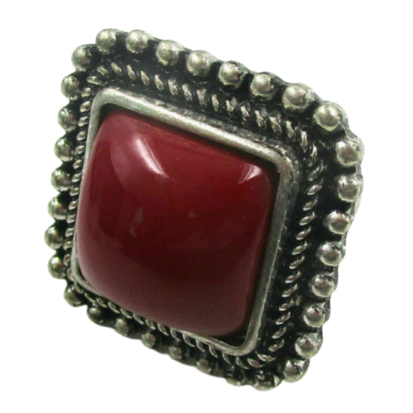 Vintage Red Stone Ring Size 6