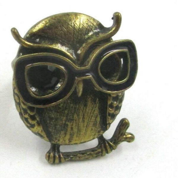 Owl Brass Ring Size 9