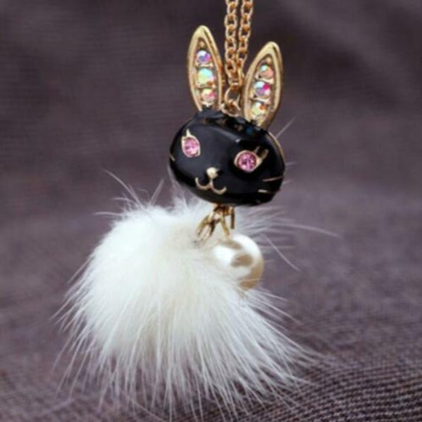 Betsey Johnson Rabbit Pendant Necklace