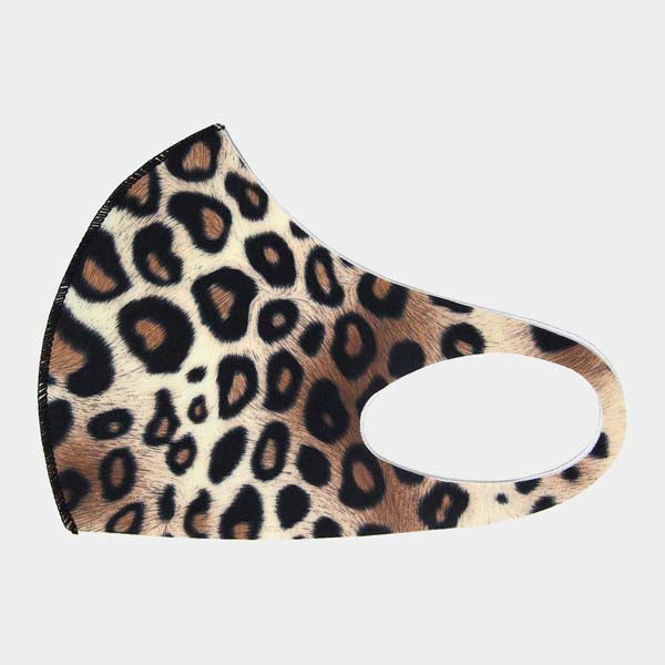 Face Mask Leopard Print Adult Unisex Reusable Washable Individually Sealed