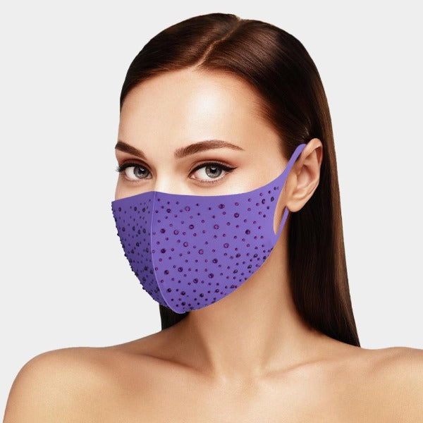 Face Mask Pick Your Color Sparkly Rhinestone Adult Unisex