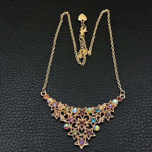 Betsey Johnson Star Multi-Color Rhinestone Necklace
