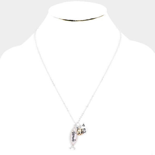 Cat Mom Pendant Necklace