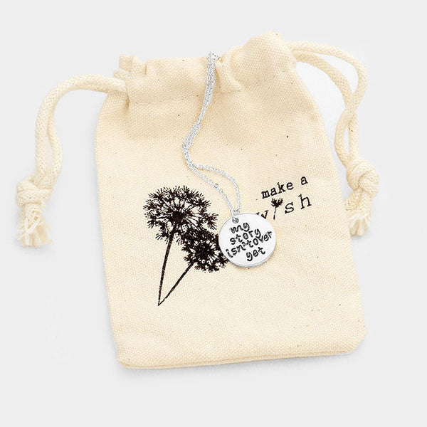 """My story isn't over yet"" Necklace Gift Bag Set"