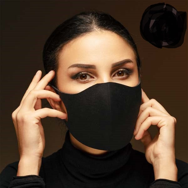 Face Mask Black 3D Adult Unisex