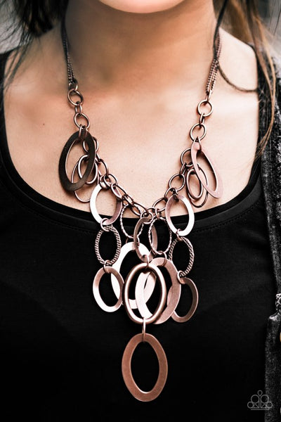 """A Copper Spell"" Copper Links Necklace & Earrings Set"