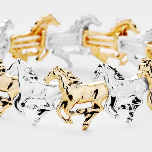Horse Metal Stretch Bracelet