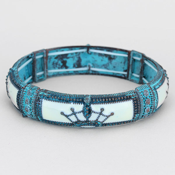 Patina Crown Stretch Bracelet