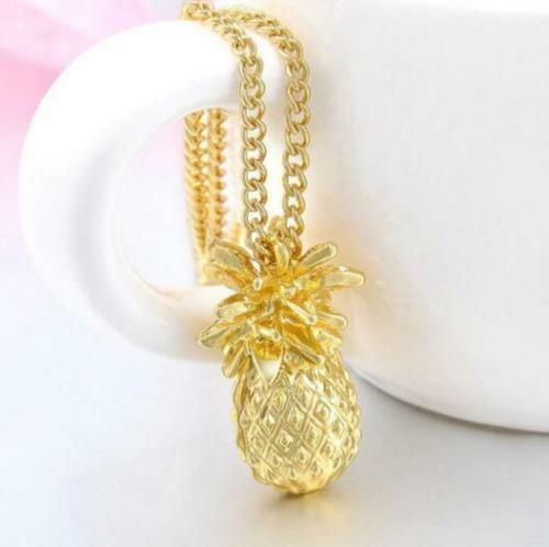 Pineapple Gold Tone Necklace