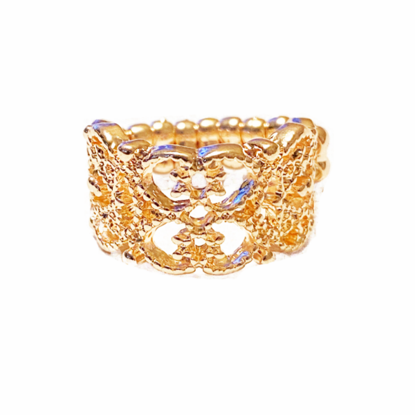 Paparazzi Tell Me How You Really Frill Rose Gold Stretch Ring
