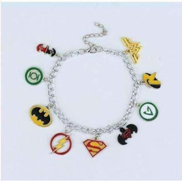 Marvel Avengers Wonder Woman Batman Superhero Charm Bracelet