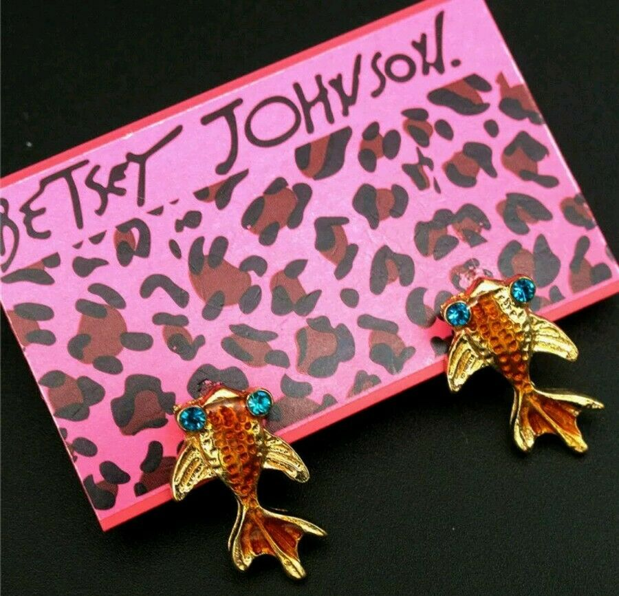 Betsey Johnson Goldfish Earrings