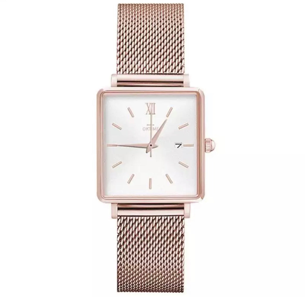 Mesh square watch