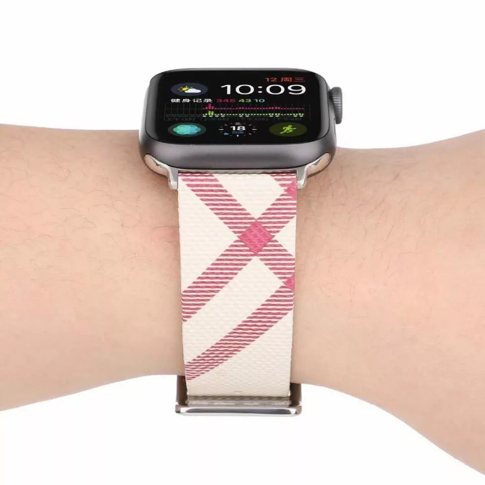 Apple Watch plaid band