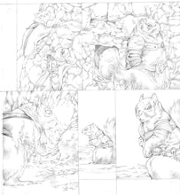 Original Artwork Pages from Squarriors Spring #4