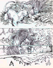 Original Artwork Pages from Anne Rice's Wolf Gift
