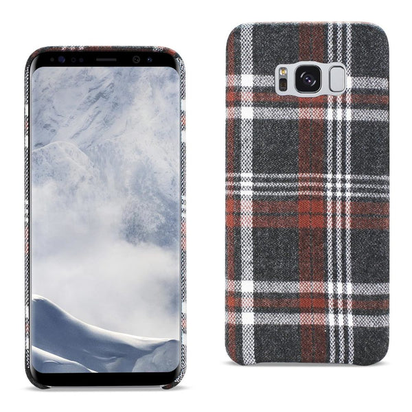 Samsung Galaxy S8 Checked Fabric In Brown