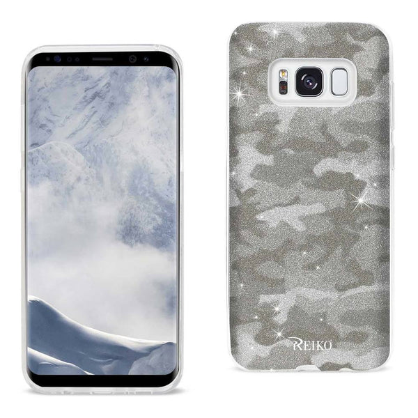 Samsung Galaxy S8 Edge- S8 Plus Shine Glitter Shimmer Camouflage Hybrid Case In Brown