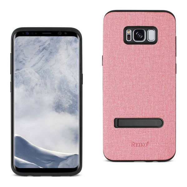 Samsung Galaxy S8 Edge- S8 Plus Denim Texture Tpu Protector Cover In Pink