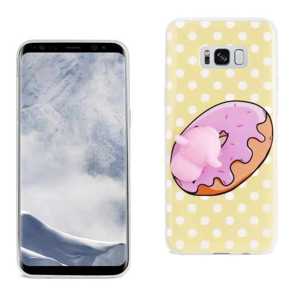 Samsung Galaxy S8 Edge Tpu Design Case With  3d Soft Silicone Poke Squishy Piggy