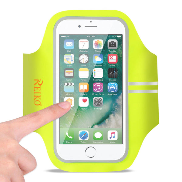 Reiko Running Sports Armband For Iphone 7 Plus- 6s Plus Or 5.5 Inches Device In Green (5.5x5.5 Inches)