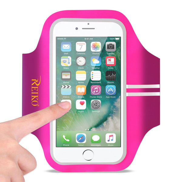 Reiko Running Sports Armband For Iphone 7 Plus- 6s Plus Or 5.5 Inches Device In Pink (5.5x5.5 Inches)