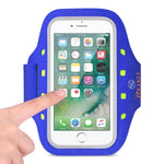 Reiko Running Sports Armband For Iphone 7- 6- 6s Or 5 Inches Device With Led In Blue (5x5 Inches)