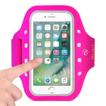 Reiko Running Sports Armband For Iphone 7 Plus- 6s Plus Or 5.5 Inches Device With Led In Pink (5.5x5.5 Inches)