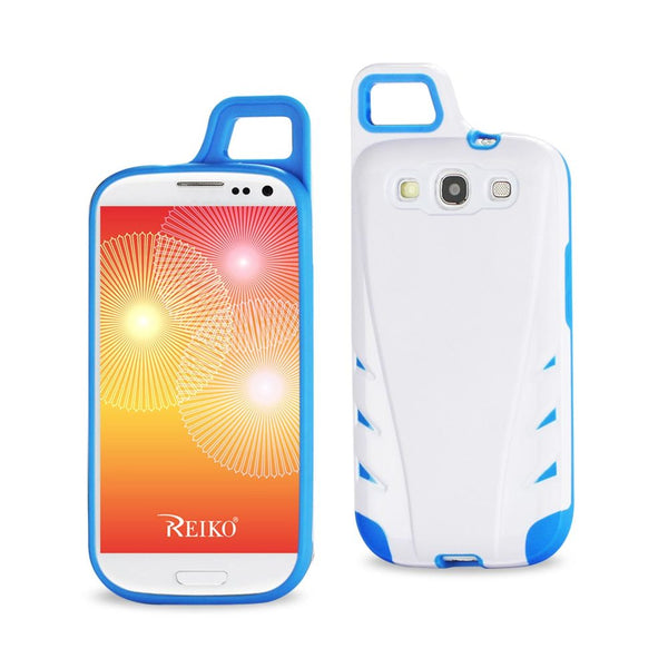 Reiko Samsung Galaxy S3 Dropproof Workout Hybrid Case With Hook In White Navy