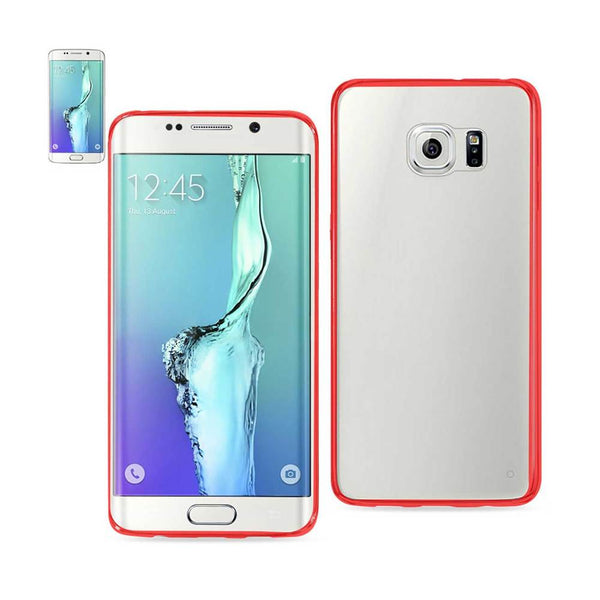 Reiko Samsung Galaxy S6 Edge Plus Clear Back Frame Bumper Case In Red