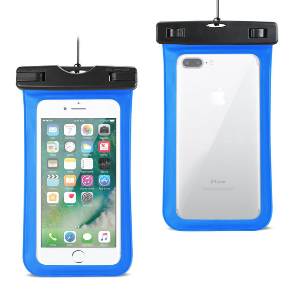 Reiko Waterproof Case For Iphone 6 Plus- 6s Plus- 7 Plus Or 5.5 Inch Devices With Wrist Strap In Blue