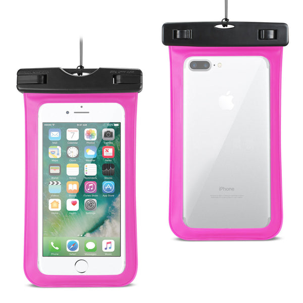 Reiko Waterproof Case For Iphone 6 Plus- 6s Plus- 7 Plus Or 5.5 Inch Devices With Wrist Strap In Pink