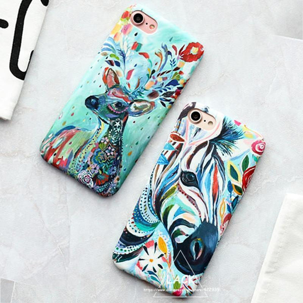 Colourful Zebra Milu Deer Painting Phone Case - The iPhone Case Co.