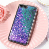 Purple Glitter Quicksand Cover - The iPhone Case Co.