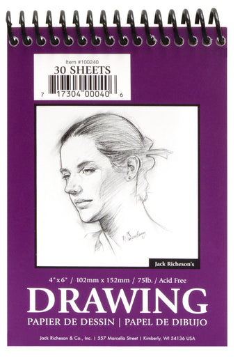 Drawing Pads 75#, Top Spiral Bound