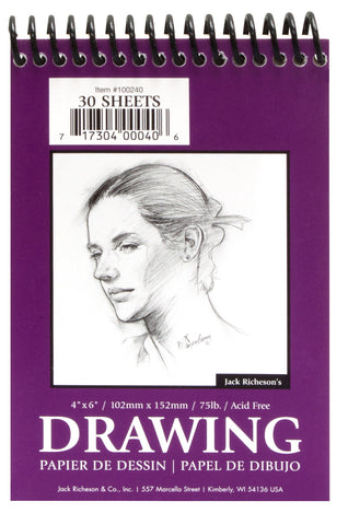 Drawing Pads 75 Top Spiral Bound Jack Richeson Co