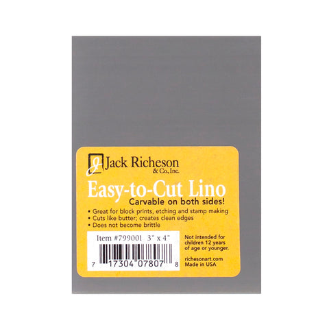 x 4 in. Jack Richeson Unmounted Easy-to-Cut Linoleum 3 in