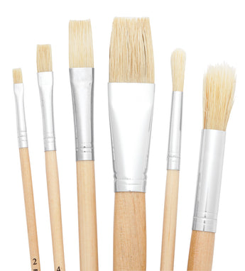 Hog Bristle Brush Set/6