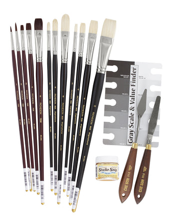 John P. Lasater's Instructor Studio and Plein Air Brush Set