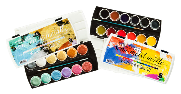 Collegiate Semi-Moist Watercolor Sets