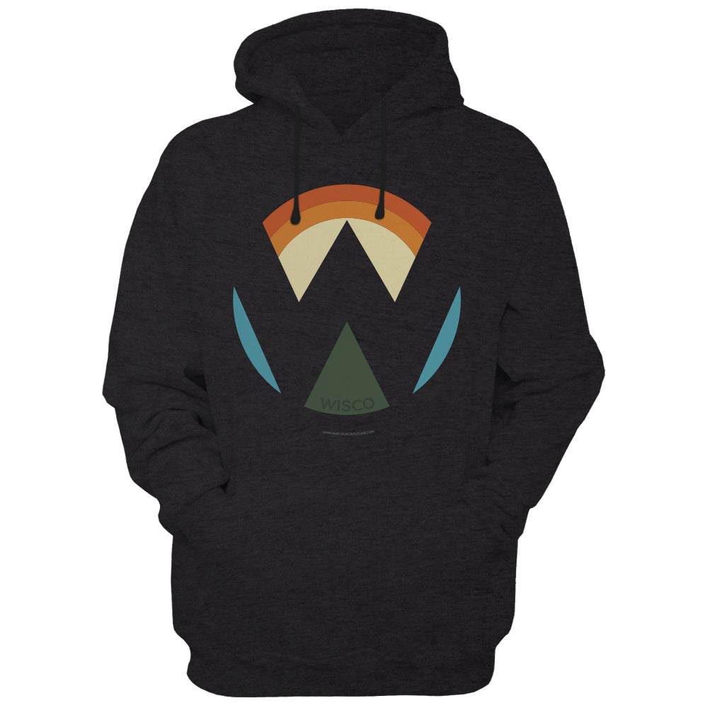 Wisco Disappearing W logo Hoodie