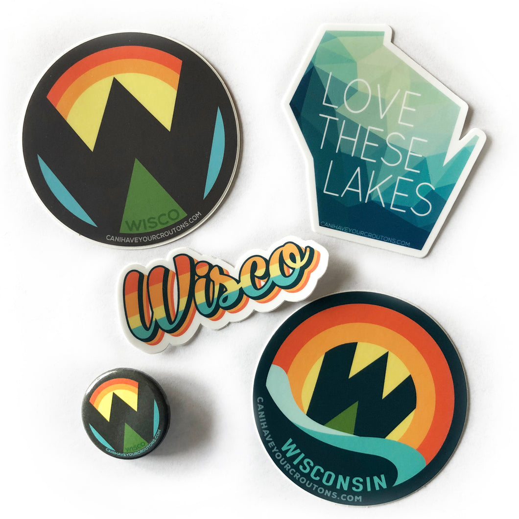 Sticker/Button Goodie Pack FREE SHIPPING