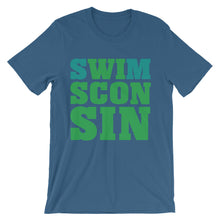 Swimsconsin bright teal/green Unisex short sleeve t-shirt
