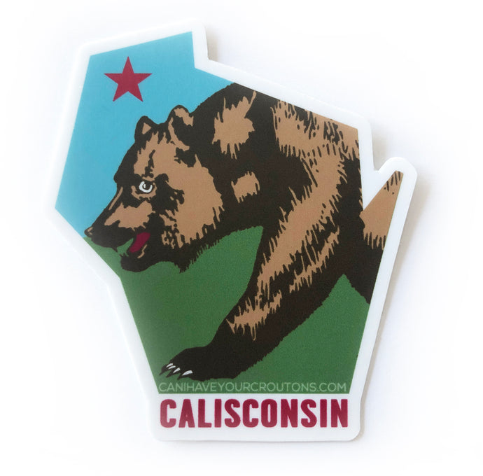 Calisconsin Sticker FREE SHIPPING