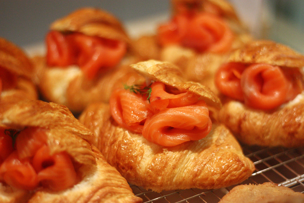 Load image into Gallery viewer, Smoked Salmon Croissant