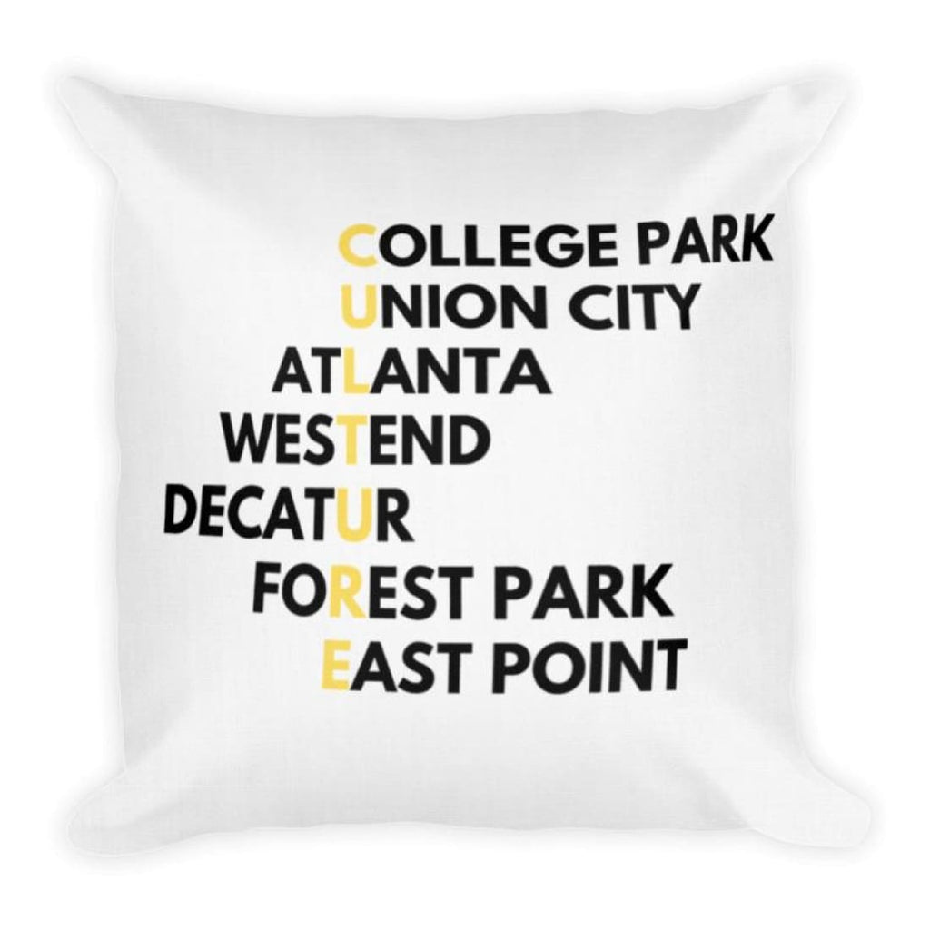 Atlanta Culture Premium Throw Pillow - Pillow