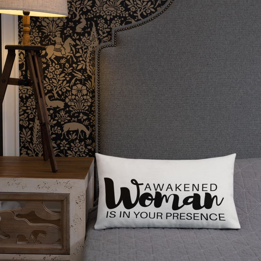 Awakened Woman Is In Your Presence Premium Throw Pillow - Pillow