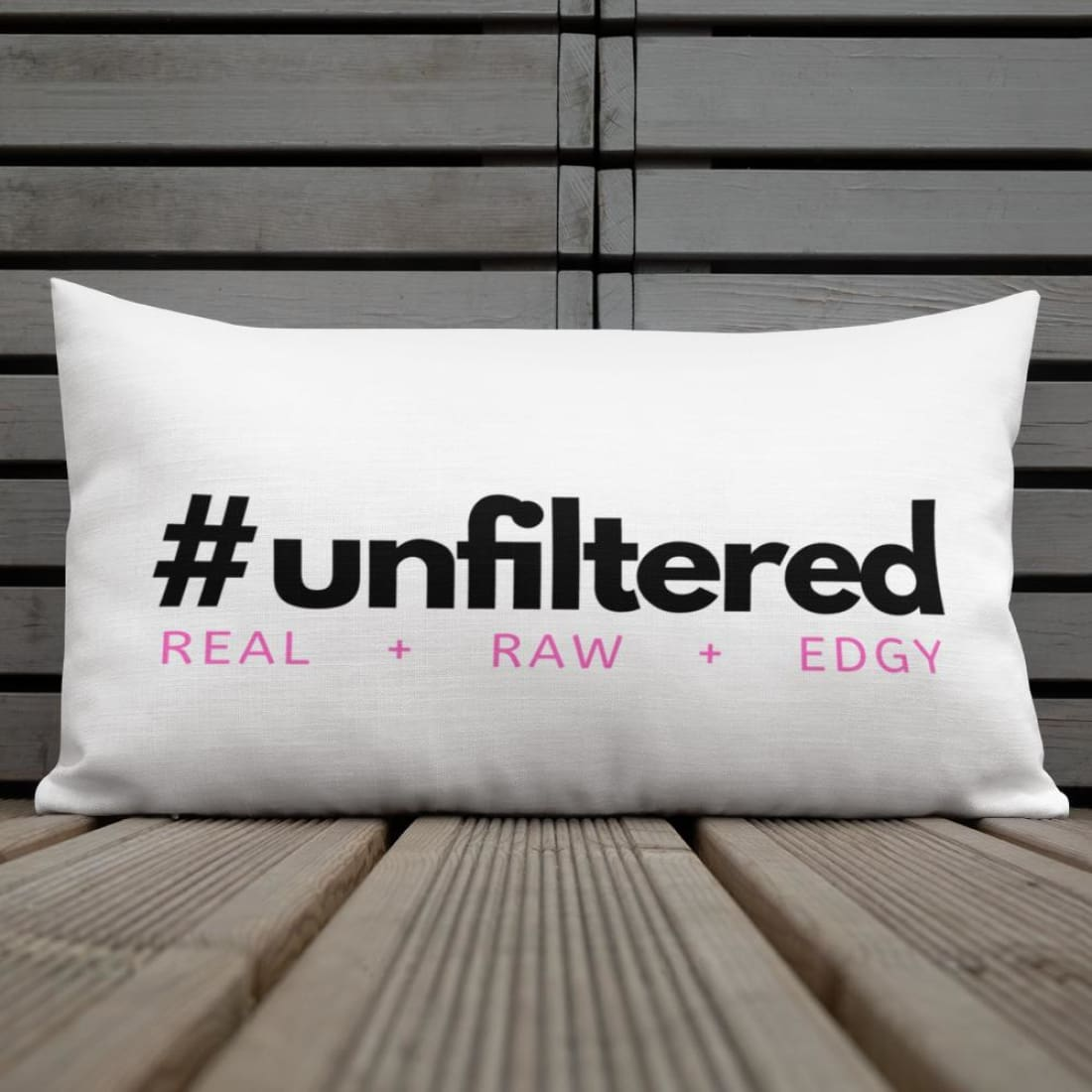 #UNFILTERED Premium Throw Pillow - Pillow