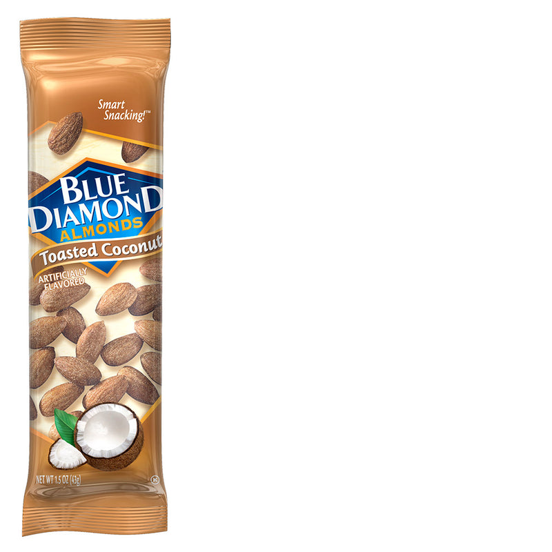 Individual Packet of 1.5oz Tube of Toasted Coconut Almonds