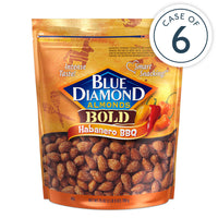 Habanero BBQ Almonds, 25oz Bags, Case